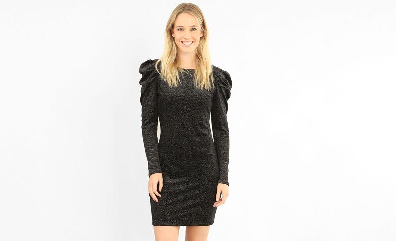 Robe glitter noir