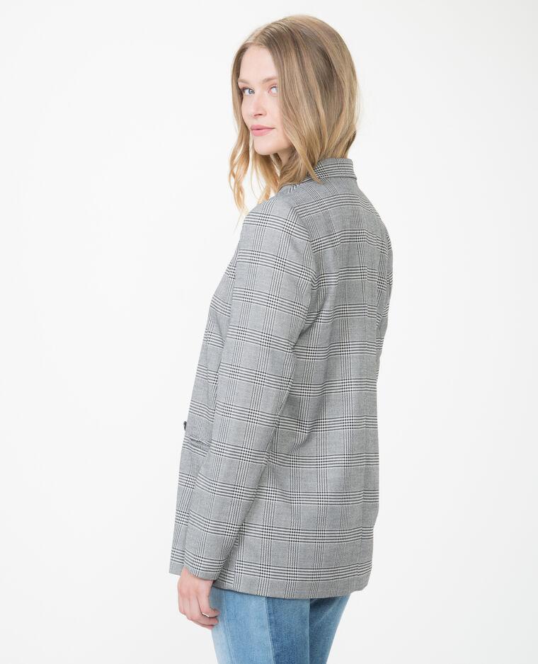 veste blazer prince de galles gris 323181860b08 pimkie. Black Bedroom Furniture Sets. Home Design Ideas