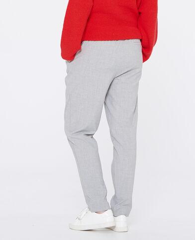 Pantalon carotte gris chiné