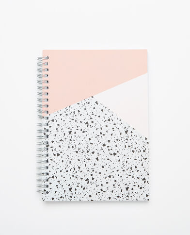 Notebook à spirales rose
