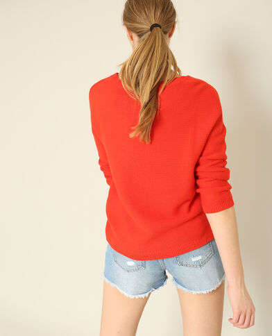 Pull ample rouge