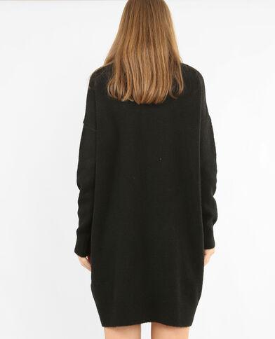 Robe pull col roulé noir