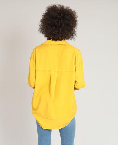 Chemise XL fluide jaune moutarde