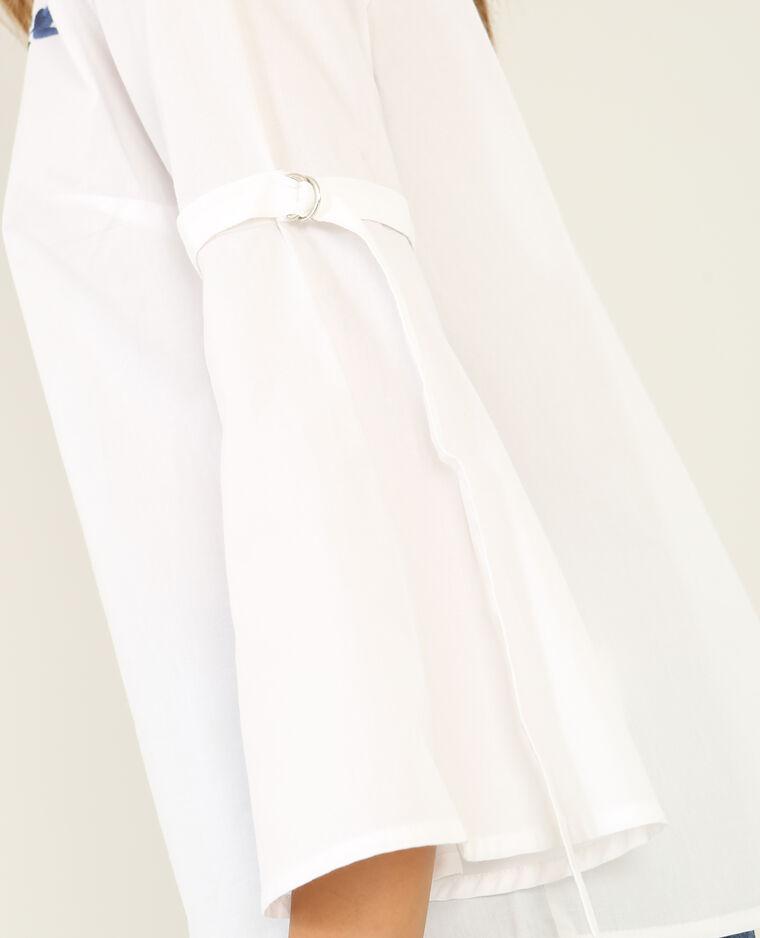 Blouse brodée blanc