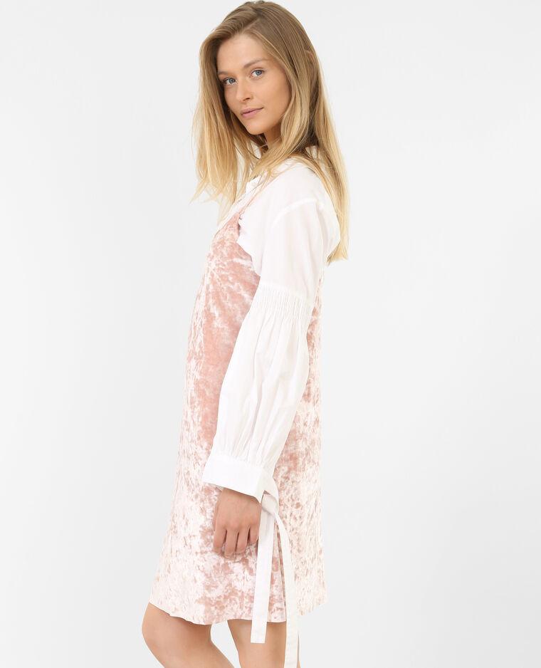 Robe velours rose