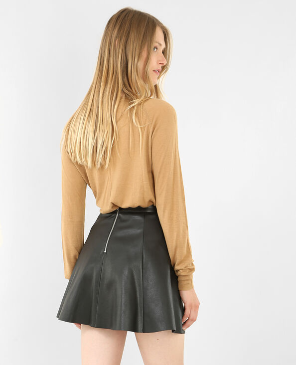 Pull fin beige sable