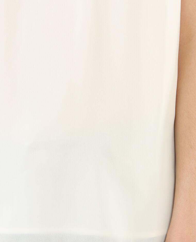 Blouse à bijoux blanc cassé