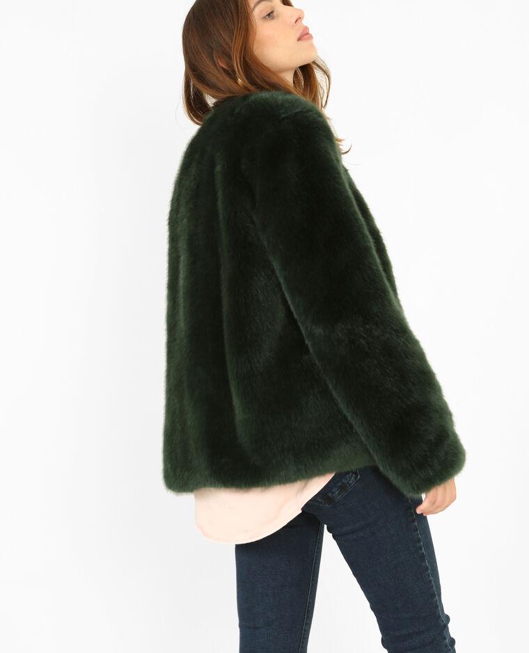 Fausse Fourrure Verte : manteau en fausse fourrure vert sapin 280112c01a05 pimkie ~ Teatrodelosmanantiales.com Idées de Décoration