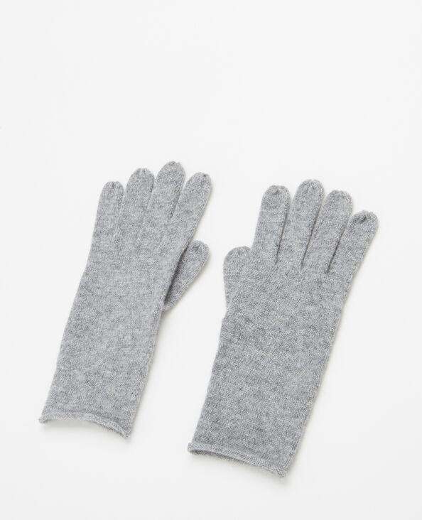 Gants 100% cachemire gris chiné