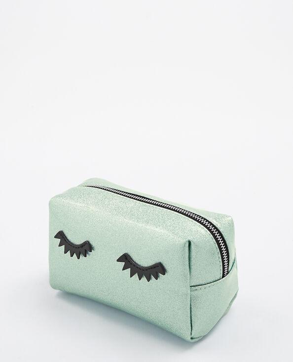 Trousse de maquillage glitter eyes bleu