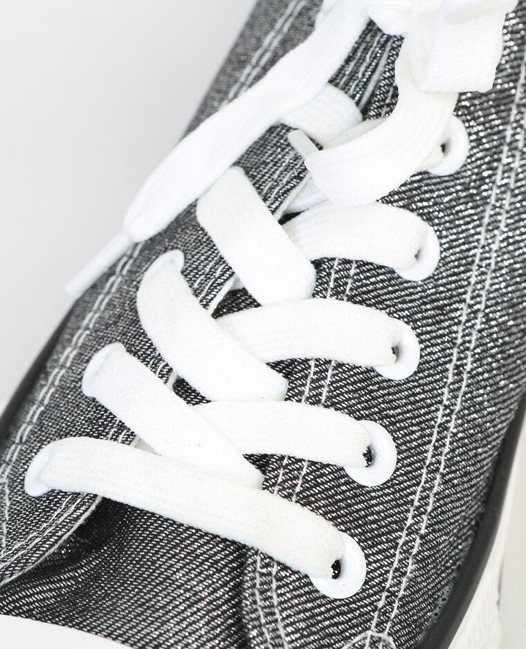 Baskets toile irisée noir