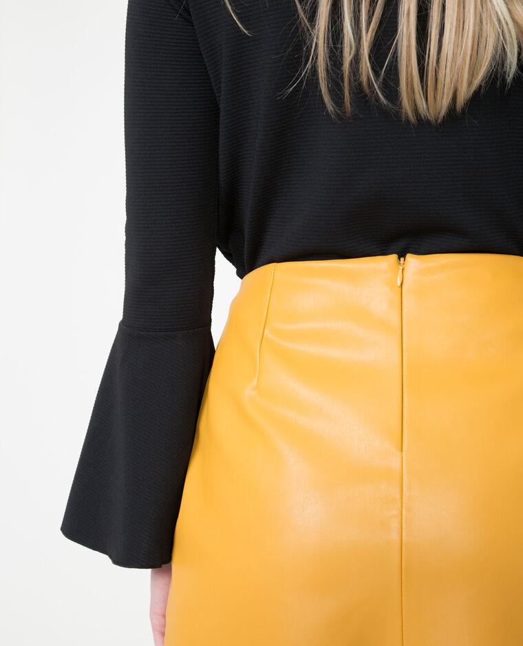 jupe en simili cuir jaune 690406003a00 pimkie. Black Bedroom Furniture Sets. Home Design Ideas
