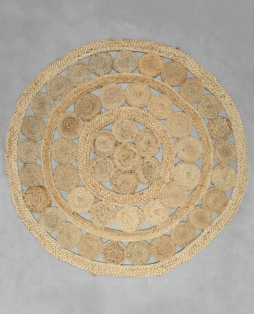 Tapis Rond Jute Beige Taupe 902236742a07 Pimkie