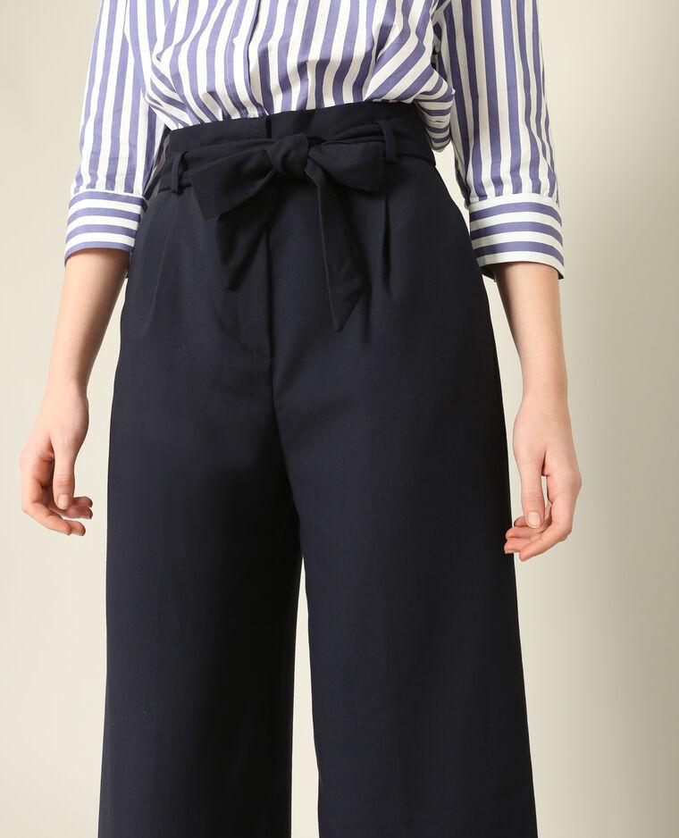 pantalon fluide 7 8 bleu marine 50 140584635a06 pimkie. Black Bedroom Furniture Sets. Home Design Ideas