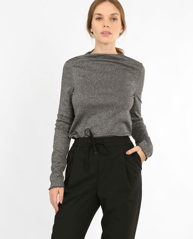 T-shirt lurex gris