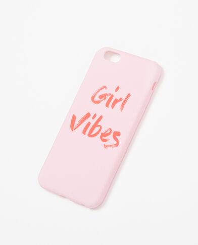 Coque à message compatible Iphone 6/6S rose