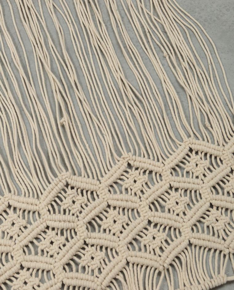 Tête de lit macramé blanc cassé
