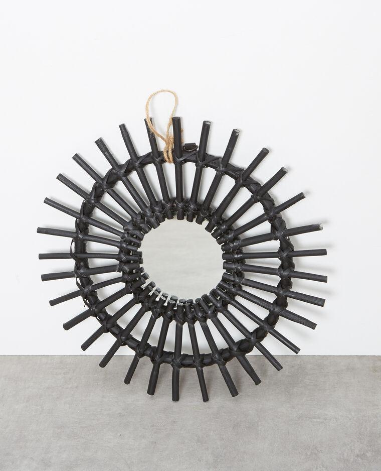 petit miroir en rotin noir 907079899a08 pimkie. Black Bedroom Furniture Sets. Home Design Ideas