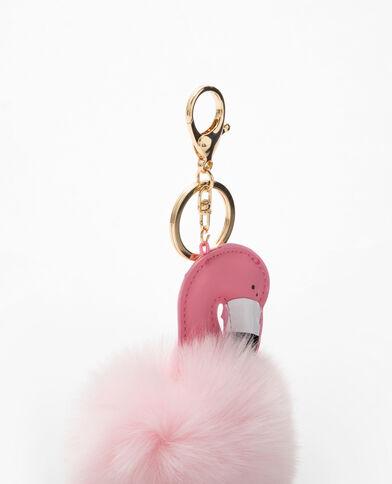 Porte-clés flamant rose rose