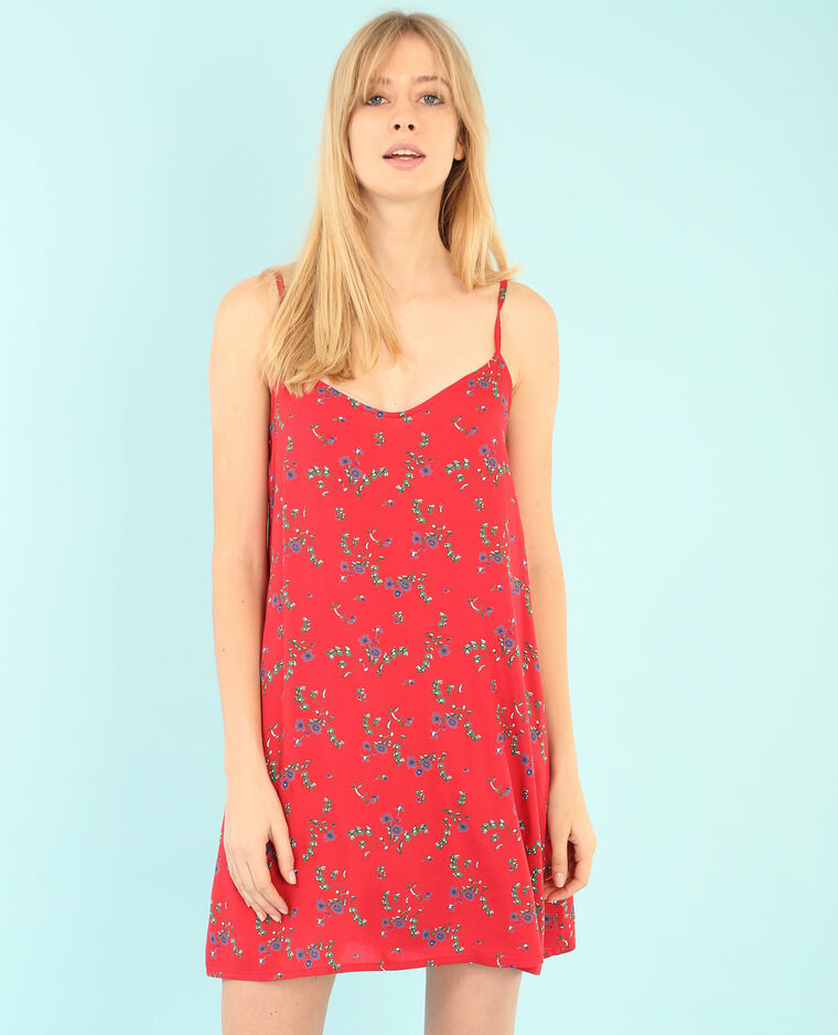 Robe imprimée rouge