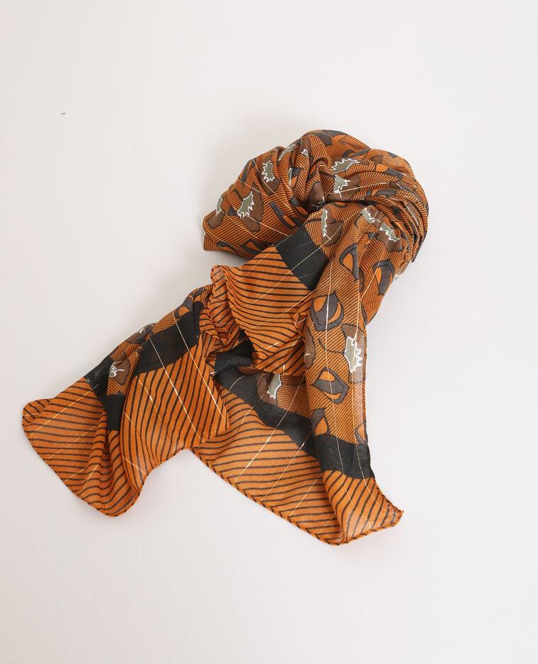 Foulard imprimé marron