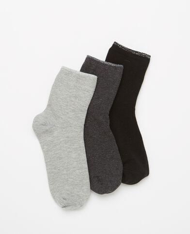 Lot de 3 paires de chaussettes gris