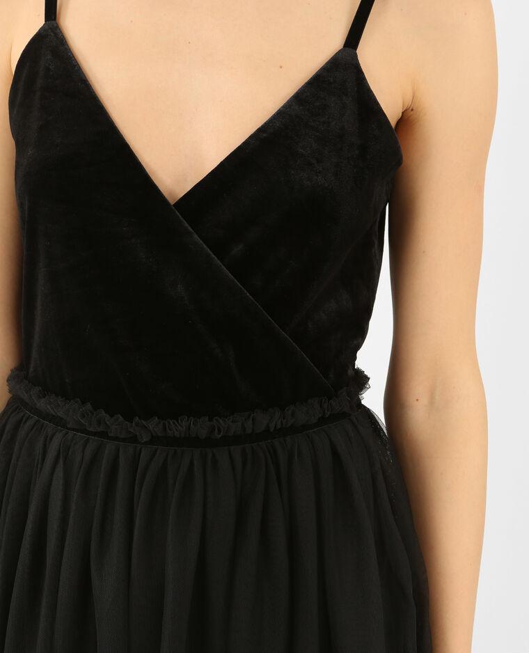 Robe bimatière noir