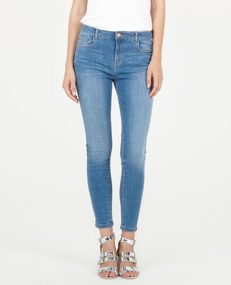 Jean skinny 7/8 bleu denim