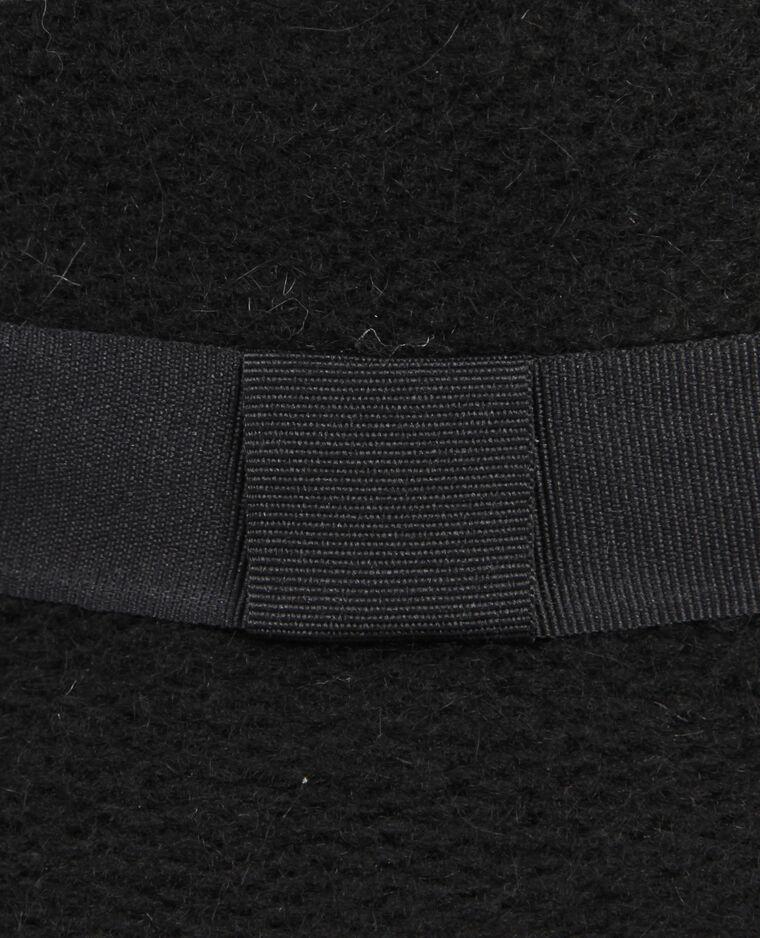 Chapeau fedora tricoté noir