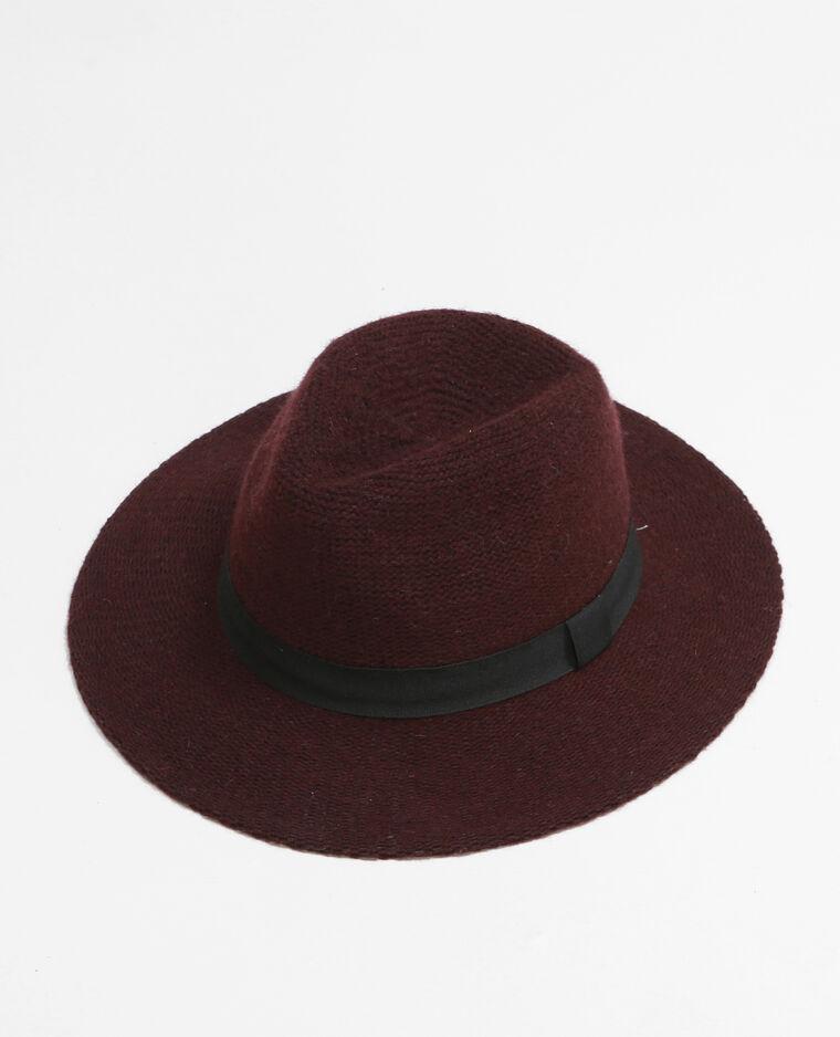 chapeau fedora tricot grenat 947103326a03 pimkie. Black Bedroom Furniture Sets. Home Design Ideas