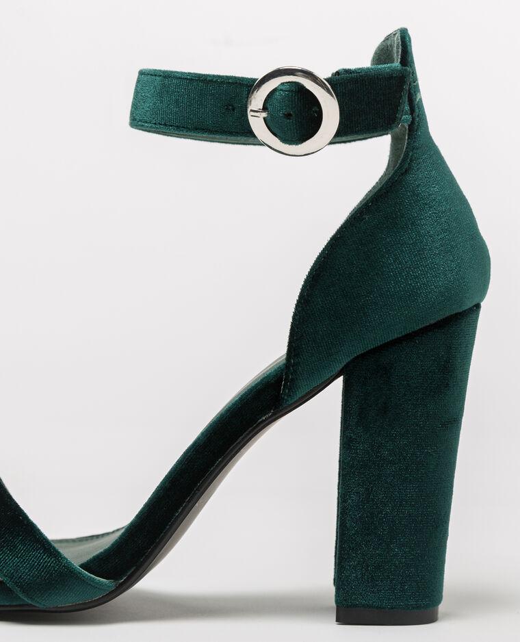 Sandales velours vert