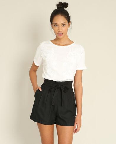 T-shirt à broderies blanc
