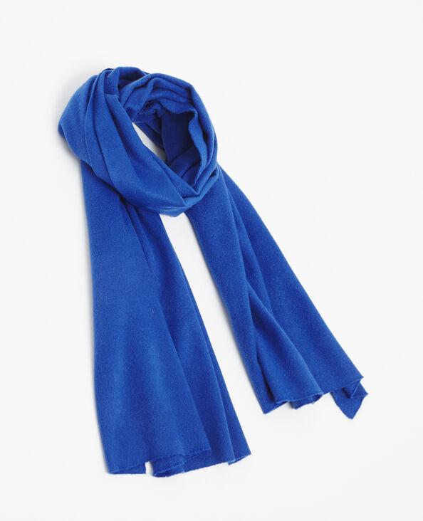 Echarpe douce bleu
