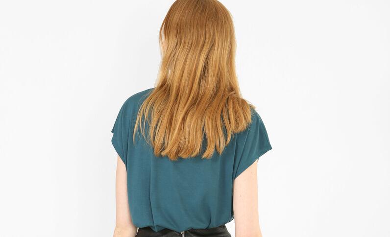 T-shirt fluide bleu canard