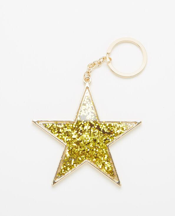 Porte-clés étoile doré