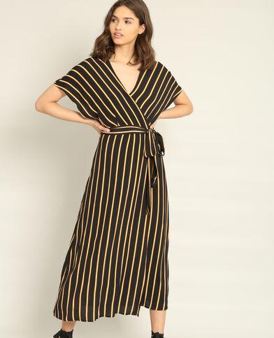 Robe longue croisée noir