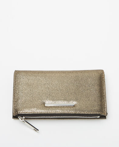 Petit portefeuille gris