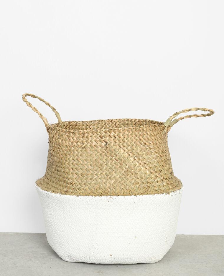 grand panier bicolore blanc cass 902639912a09 pimkie. Black Bedroom Furniture Sets. Home Design Ideas