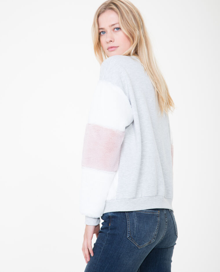 Sweat multicolore gris