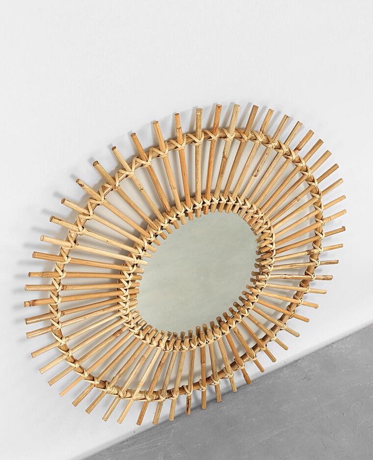 Miroir soleil rotin beige taupe 902206742a07 pimkie for Miroir soleil noir