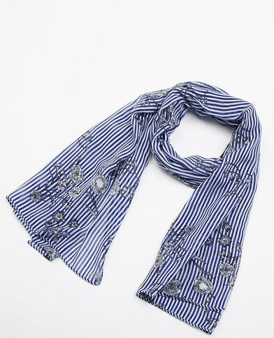 Foulard à rayures bleu