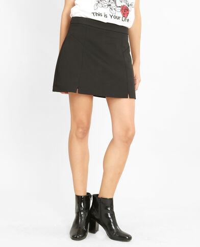 Mini jupe-short noir