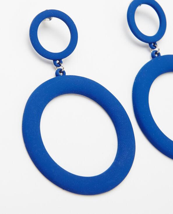 Boucles d'oreilles XL bleu électrique