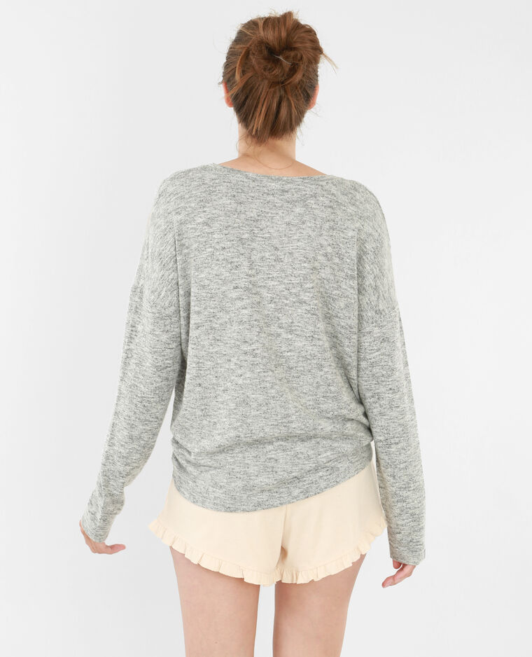 Pull homewear gris chiné