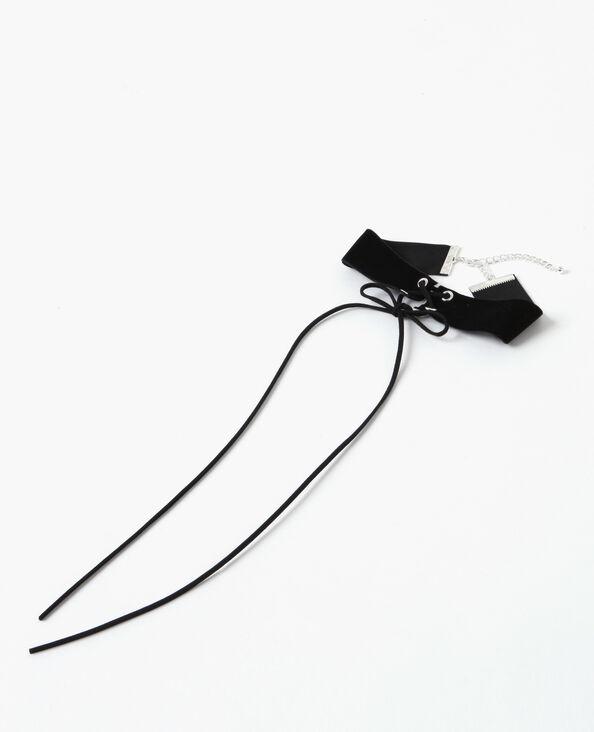 Collier choker à lacet noir