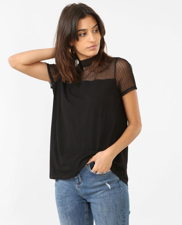 T-shirt en tulle noir