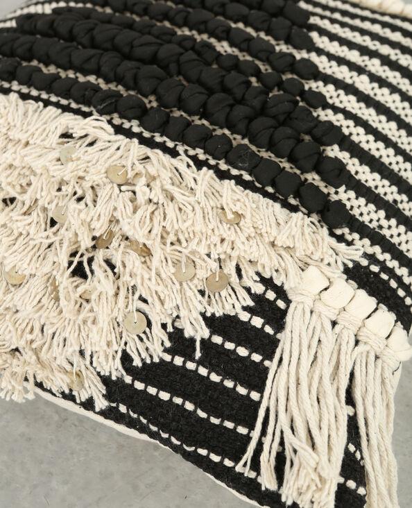 Housse de coussin berbère noir