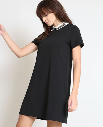 Robe col chemise noir