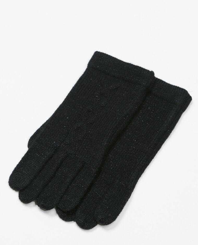 Gants torsadés noir