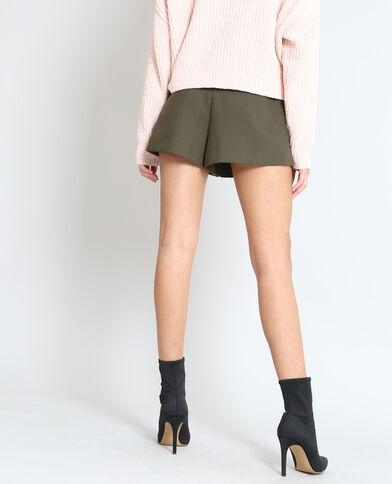 Short zippé kaki